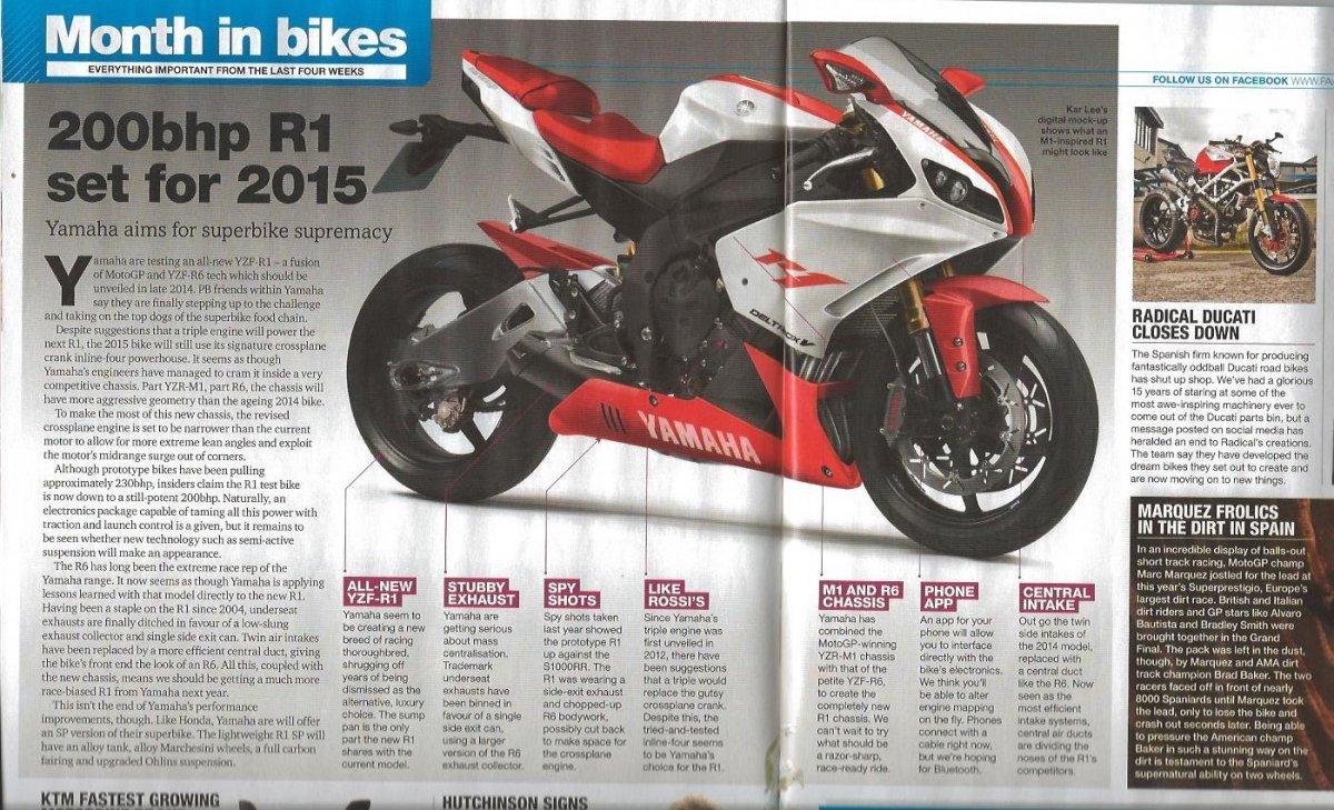 New Yamaha R1 2015