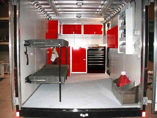 Enclosed trailer/toy hauler bunk beds?? - Honda CBR1000 Forum : 1000RR ...